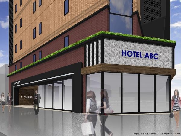 ホテルABC-外観ファサードイメージCG